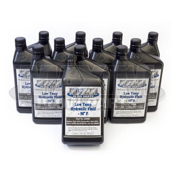 Maxim Snowplow Low Temp Hydraulic Oil [12 Quarts Case]